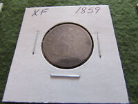 1859 LIBERTY SEATED SILVER QUARTER RAW 25 CENTS PHILADELPHIA MINT 25C