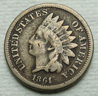 1861 INDIAN HEAD CENT PENNY 1 COIN LOT MZ 123