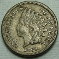 1860 INDIAN HEAD CENT PENNY ROUNDED BUST 1 COIN LOT MZ 127