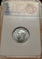 1945 NICKEL 5 CENTS CANADA PNG MS 65 SCRATCH