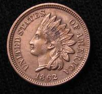 1862 INDIAN HEAD CENT   AU DETAILS 160XX