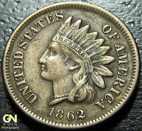 1862 INDIAN HEAD CENT      MAKE US AN OFFER  W2928 ZXCV