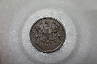 INDIA 1/2 PICE 1853 AWESOME DETAILS A53 Z2790