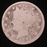 1893 LIBERTY V NICKEL TOUGH EARLY DATE COIN M3202