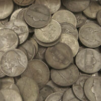 1 FULL ROLL OF JEFFERSON WAR NICKELS 1942 1945 35 SILVER 40 COINS $2 FACE