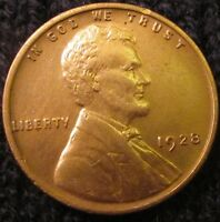 1928 P LINCOLN CENT   UNCIRCULATED DETAILS