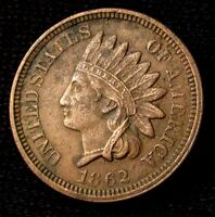 1862 INDIAN HEAD CENT   AU DETAILS 15236