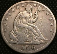 1876 50C SEATED LIBERTY HALF DOLLAR LOW MINTAGE