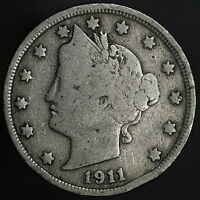 1911 LIBERTY V NICKEL AFFORDABLE ANTIQUE COLLECTOR COIN W/ SHIPS FREE 8371