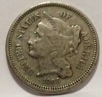 1866 THREE CENT NICKEL