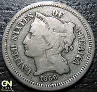1866 3 CENT NICKEL PIECE      MAKE US AN OFFER  Y4828