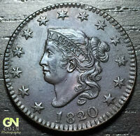 1820/19 CORONET HEAD LARGE CENT N1 R1        MAKE US AN OFFER  O3046