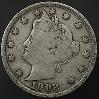 1902 LIBERTY V NICKEL STRONG & ORIGINAL FULL DATE W/ BOLD LIBERTY 7588
