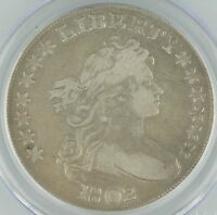 1802 US DRAPED BUST DOLLAR $1 GRADED BY PCGS GENUINE, NARROW NORMAL DATE KM32