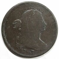 1797 S-130 R-2 EDS DRAPED BUST LARGE CENT COIN 1C