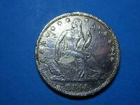 1846 50C SEATED LIBERTY HALF DOLLAR MEDIUM DATE NICE COIN