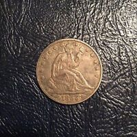 1855 SEATED LIBERTY HALF DOLLAR  ARROWS AT DATE