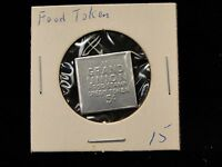 3 COINS GRAND UNION FOOD STAMP TOKEN 5CENTS SQUARE AND ROUND 1960'S IN CASES