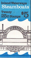 2405-9 - 25 STEAMBOATS ISSUE - BK166 MNH BOOKLET OF 20 FV $5.00
