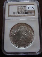1900 O MORGAN SILVER DOLLAR NGC MS64 NEW ORLEANS MINT BLAST WHITE $1 COIN