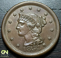 1854 BRAIDED HAIR LARGE CENT N9 R2    MAKE US AN OFFER  O3035