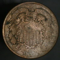 1865 USA 2 TWO CENT COIN  7921