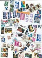 A VARIETY OF UNCANCELLED U.S. POSTAGE STAMPS ON & OFF PAPER FACE $40.00