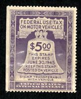 DR JIM STAMPS OLD US SCOTT RV30 $5 MOTOR VEHICLES USED NO RESERVE FREE SHIPPING
