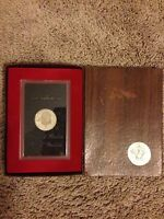 1972 S 40 SILVER EISENHOWER $1 PROOF COIN  BROWN BOX IKE UNCIRC.