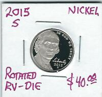 2015S GEM PROOF  JEFFERSON MODIFIED NICKEL   RV. ROTATED DIE