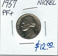 1957 GEM PROOF  JEFFERSON  NICKEL