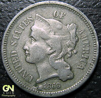 1868 3 CENT NICKEL PIECE      MAKE US AN OFFER  Y5210