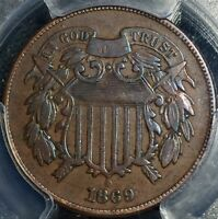 1869 2C TWO CENT PIECE PCGS F15 G2487