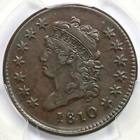 1810 S 285 R 2 PCGS XF 45 CLASSIC HEAD LARGE CENT COIN 1C