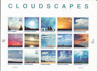 3878 - 37 CLOUDSCAPES ISSUE MNH SHEET OF 15 FV $5.55