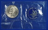 1972 S EISENHOWER 40 SILVER DOLLAR IN BLUE US MINT PACKAGE
