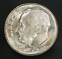 1954 D ROOSEVELT DIME GORGEOUS HIGH GRADE ORIGINAL EXAMPLE GC635