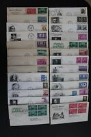 26 VINTAGE FIRST DAY OF ISSUE COVERS 1946-1972 LOT J