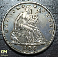1856 O SEATED LIBERTY HALF DOLLAR      MAKE US AN OFFER  W4359 ZXCV