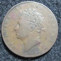 1826 GREAT BRITAIN 1/2 PENNY CIRCULATED