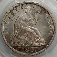 1847 SEATED LIBERTY HALF DOLLAR  EARLY FEDERAL PERIOD SILVER PCGS CERT
