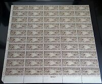 US STAMPS C8  1926 15C AIRMAIL PERF 11 SHEET MINT NH OG
