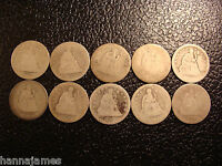 GROUP OF 10 SEATED LIBERTY QUARTERS 1853 1877 WE COMBINE ON SHIPPING