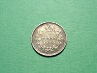 CANADA 5 CENTS 1880 H SILVER COIN  CONDITION