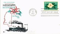 DR JIM STAMPS US MISSISSIPPI STATEHOOD 150 YEARS FIRST DAY COVER CRAFT 1967