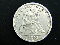 1842 LIBERTY SEATED SILVER HALF DOLLAR