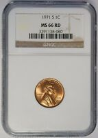 1971 S LINCOLN CENT NGC MS66RD