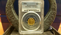 1850 LIBERTY HEAD $2.50 GOLD COIN PCGS GENUINE FILED RIMS AU DETAILS KEY DATE