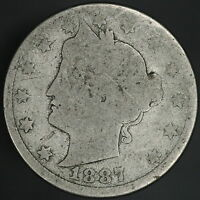 1887 LIBERTY V NICKEL  7350
