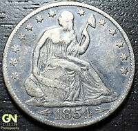 1854 O SEATED LIBERTY HALF DOLLAR      MAKE US AN OFFER  W3179 ZXCV